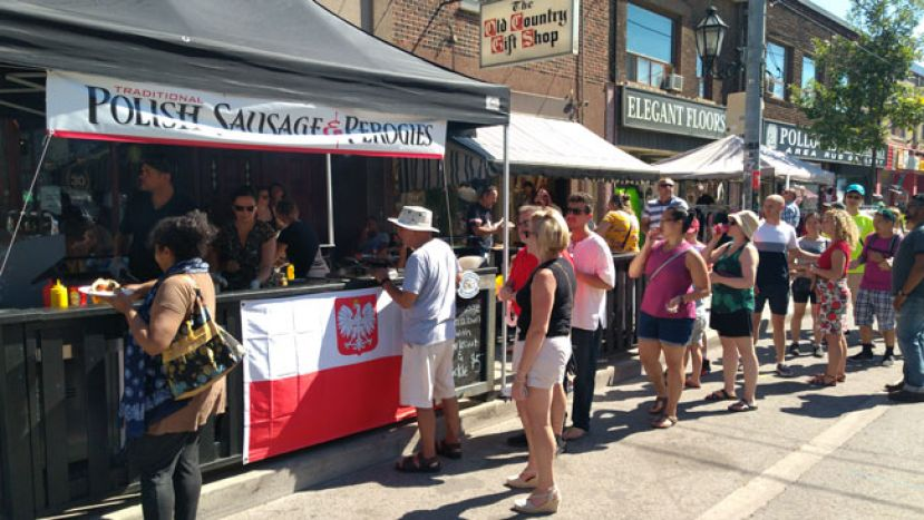 Polish Festival in Toronto at Roncesvalles Ave